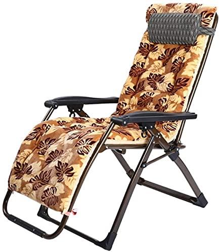 Sillas de salón para patio, silla plegable, silla de descanso para el almuerzo, silla para mujer embarazada, silla portátil Siesta, silla de ocio feliz y perezosa, 73 x 115 cm, duradera