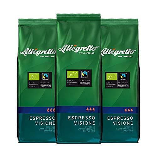 Allegretto Bio Espresso Visione, ganze Bohne (3x 250g)