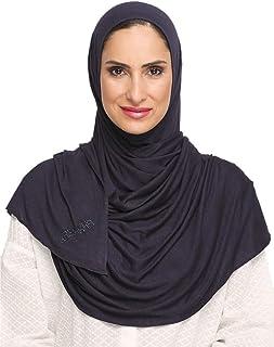 وشاح نسائي من Kashkha جاهز للارتداء الفوري وشاح حجاب (كحلي داكن)