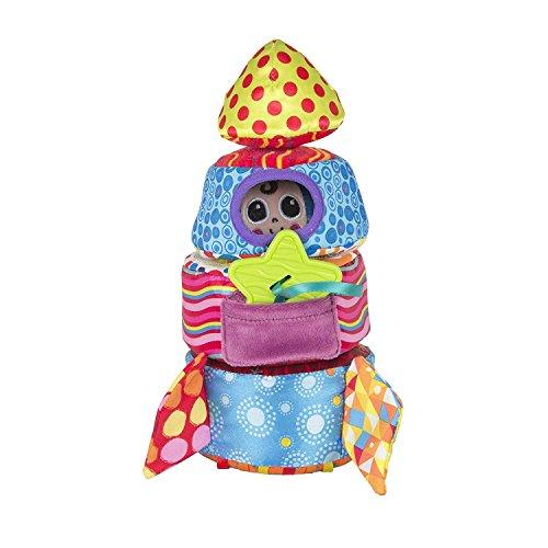 """Lamaze Baby Spielzeug """"Softe Stapelrakete"""" - kleiner Astronaut und Beißstern - Greifspielzeug ab 6 Monate fördert Motorik, Tastsinn, Sehvermögen und hilft beim Zahnen"""