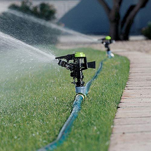 Yestter Rasenbewässerungs-Sprinkler 360 Grad-automatische Drehende Garten-Bewässerungs Düse Ewässerungssystem, Automatische Bewässerungsgeräte Mit Regelventil Umschalt