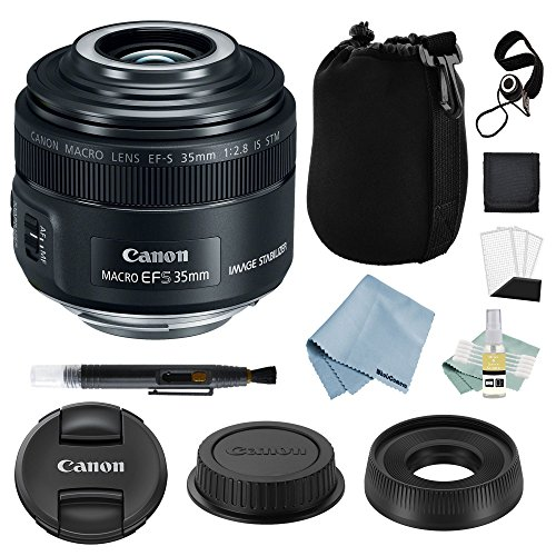 Canon EF-S 35mm f/2.8 Macro is STM Lens + Canon EF-S 35mm Lens Advanced Accessory Kit - Canon Lens Bundle Includes to Get Started
