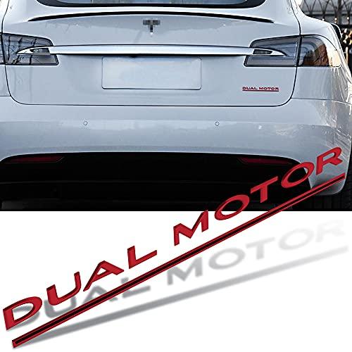 adhesivo insignia Auto personalizado DualMotor Logo Coche Pegatina de cola de plástico Modificación original Pegatina 3D compatible con Tesla Modelo S Modelo 3 Modelo X Modelo Y Insignia Etiqueta