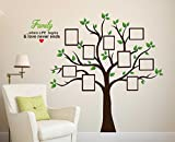 Wallstick 'Family Tree' Wall Sticker (Vinyl, 49 cm x 4 cm x 4 cm) (69-3127)
