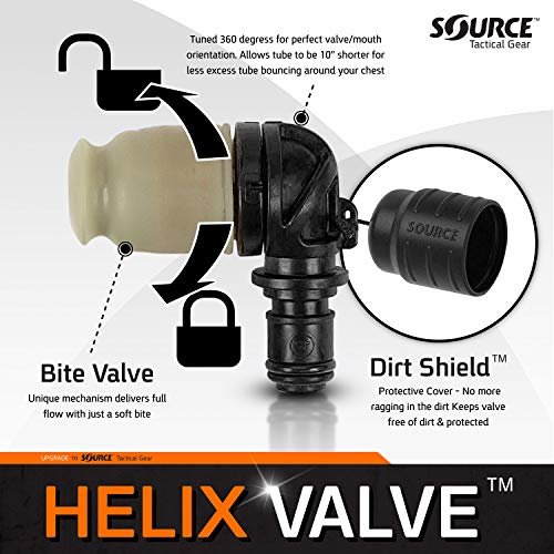 Source Unisex's Helix Hydration Accessory, Black, One size
