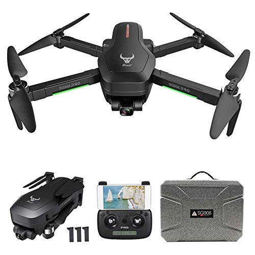 GoolRC SG906 Pro GPS RC Drone con Cámara 4K 5G WiFi 2 Ejes Gimbal 25mins Tiempo de Vuelo Quadcopter sin Escobillas Sígueme MV Foto Gestual (Caja EPP & 3 Batería)