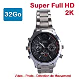 Cyber Express Electronics - Montre Mini caméra Espion 32 Go 2K Super Full HD 2304 x...