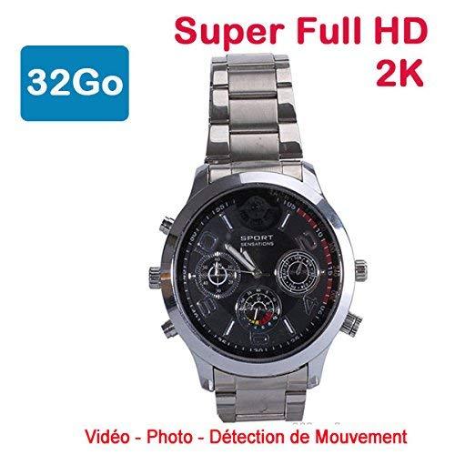 Cyber Express Electronics–Reloj Mini cámara espía 32GB 2K Super Full HD 2304x 1296P detección de Movimiento cel-dwf-74s-32