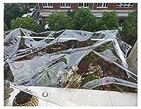 HYHMJ-防水シートバルコニープラスチック雨よけシート極太0.5mm耐候性PVCプールライナー 園芸 屋根 シートにとってガーデンファニチャープール車ルーフ建設請負業者防水ターポリン,Clear,0.5x1.5m