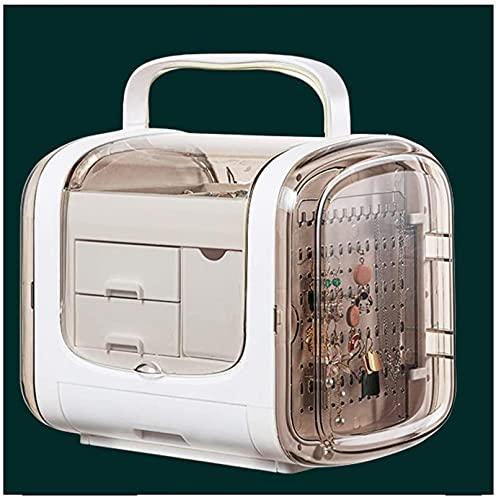 WHXL Caja de joyería Damas Caja de joyería Pendientes Collar de uñas Accesorios para el cabello CLIP Caja de almacenamiento Estante Capacidad grande Caja de joyería