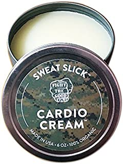 SWEAT SLICK CARDIO CREAM - 100% Organic- Maximize Your Cardio Workout with SWEAT SLICK SWEAT CREAM! Fight The Good Fight the #1 Trusted Choice of Professional Fighters (Made In USA) - 6 OZ.