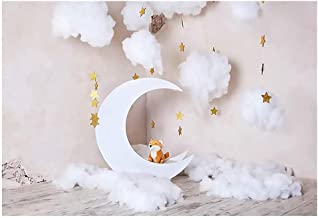 FRCOLOR Moon Star Photography Backdrop Baby Photo Background for Baby Shower Newborn Baby Portrait Photo Studio Photobooth...