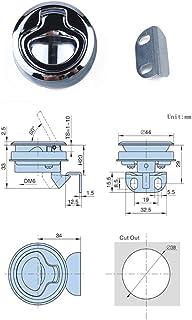 DishyKooker A1858 Zinc Alloy Flat Lock Flush Pull Slam Latch Toolbox Lock for Boat Deck Hatch AutoAccessory