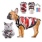 TVMALL Mascota Perro Camiseta Perrito Ropa para Gatos Camisas Deportivas de Camuflaje Malla de Verano Chaleco Transpirable Abrigo de Moda Ropa de Playa Adecuado para Perros y Gatos pequeños (Rojo, S)
