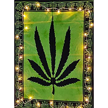ICC Marijuana leaf Poster Cannabis leaf poster Hippie Decor Pot Flag Tapestry Wall Hanging Dorm Collage Color Me Weed Leaf Bohemian Art psychedelic Hippie Rasta ganja 30x40 in