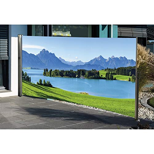 Seitenmarkise mit Fotodruck BERGE