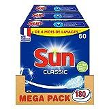 Sun Tablettes Lave-Vaisselle Classique 180 Lavages (Lot de 3x60 Lavages)