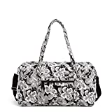 Vera Bradley women's Signature Cotton Lay Flat Travel Duffle Bag, Bedford Blooms, One Size