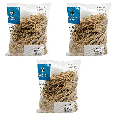 Business Source Size 117B Rubber Bands (15729) - 3 Pack