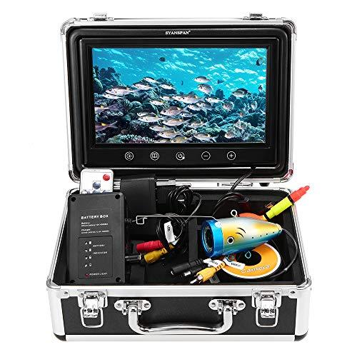 Lixada Portátil de 7inch Monitor de Pulgadas 1000TVL Equipo de Cámara de Pesca Submarina Impermeable 24PCS LED Infrarrojos Buscador de Peces (50M)