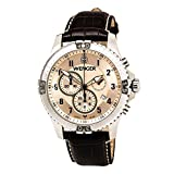 Wenger Squadron Chrono Watch, Copper Dial Brown Leather Strap 77052