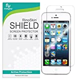 RinoGear Screen Protector for iPhone SE, 5, 5S, 5C Case Friendly iPhone SE, 5, 5S, 5C Screen Protector Accessory Full Coverage Clear Film