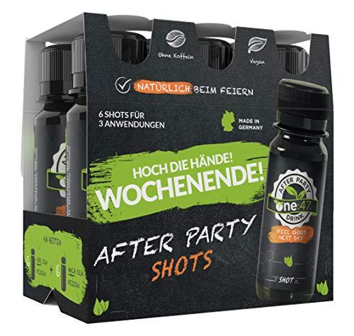 one:47 ® After Party Drink | 36 Shots | Limited Six-Pack Edition mit Preisvorteil | Feel good next day | Natürlich Feiern. Natürlich Fit | Die originale geschützte one 47 Formel