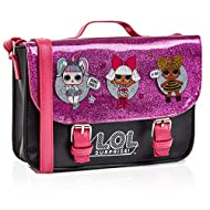 FOR YOUR LOL DOLL MAD DAUGHTER! --- The perfect gift for lol dolls fans! This small shoulder bag for girls is perfect for shopping or for a day out in town. There's a long strap in bright pink faux leather, a top handle, a secure popper, pink glitter...