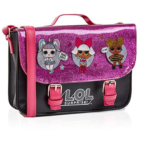 L.O.L. Surprise! LOL Puppen Handtasche Klein Rosa Glitzer Für Mädchen Mit LOL Doll Unicorn, Diva Und Queen Bee | Mädchen Handtasche Pink | Kinder Umhängetasche | Mode Umhängetaschen Für Kinder