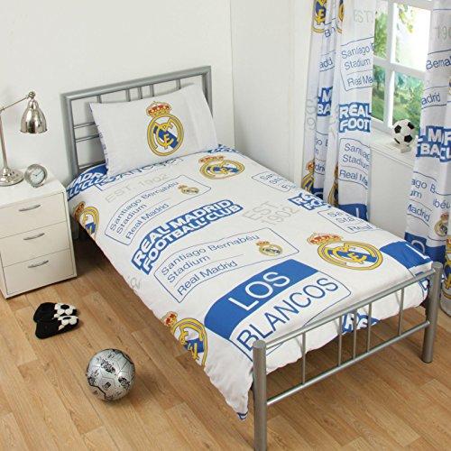 Real Madrid CF - Ensemble de lit (Lit Simple) (Bleu/Blanc)