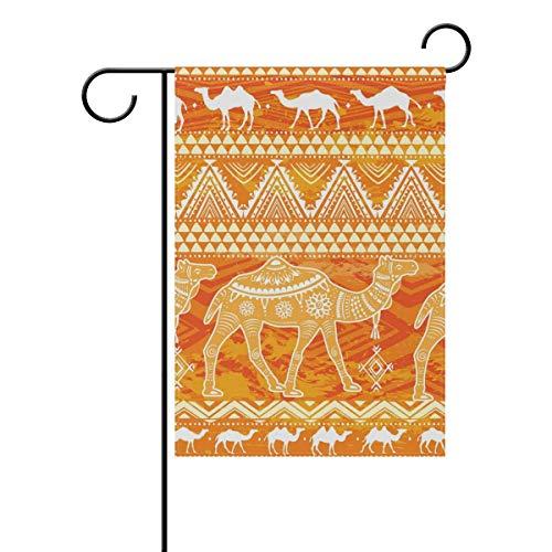Cartel de jardín Boho Camel, interesante Little Citi decoración de patio de doble cara, 4 temporadas terraza césped cartel 12,5 x 45,7 cm
