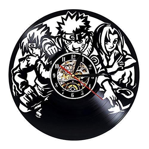 wtnhz Reloj de Pared con Disco de Vinilo LED Reloj de Pared con Disco de Vinilo Movimiento de Cuarzo Reloj de Pared con CD clásico