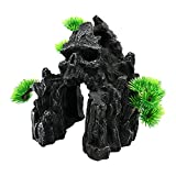 POHOVE Colorido Artificial Mar Coral Ree f 4.7x4.7x5.5 Ornamento Resina Cueva Decoración Acuática Miniaturas Paisaje para Acuario Decoraciones Acuario Acuario Decoración Rocas