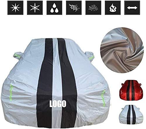 RUN White Car Cover, Fließheck/Limousine/Cabrio/SUV Beste Wahl, Allwetterschutz (Größe: 2018 2.3L Ecoboost)