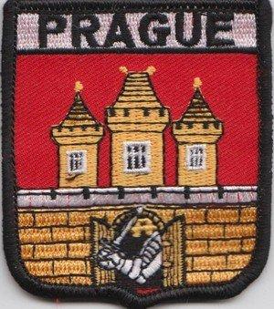 Tschechische Republik Prag Flagge bestickt Patch (A348)