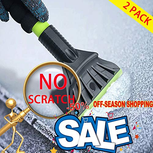 AIKESI Snow Scraper for Car Window, Car Snow Brush Windshield Ice Shovel Frost Removal Tools, Indestructible Snow Brush Ice Scrapers from Scrape Frost Snow and Ice for Cars and Small Trucks