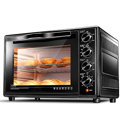 DULPLAY Toaster Oven,Best convection,Mini,30l large capacity,Digital dining,Includes broil rack,Countertop Oven Black Digital Polished stainless Toast Home Kitchen-black 51x32x33cm(20x13x13inch)