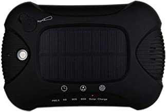 Purificador de aire de aromaterapia, coche hogar de aromaterapia negativo ion purificador de aire de energía solar Ionic Air Cleaner Eliminator ionizer Cleaner para aseo de uso doméstico cuartos,negro