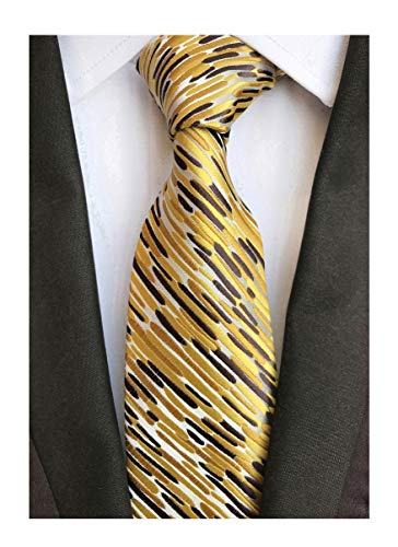 Men's Glod Brown Neckties Silk Tie For Men Suit Fitness Dating Fashion New Style
