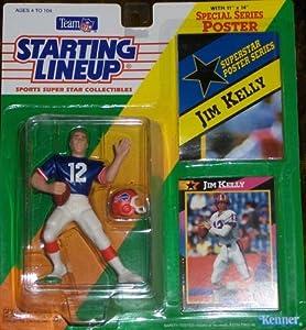 1992 Jim Kelly Buffalo Bills Kenner SLU Starting Lineup NFL figure