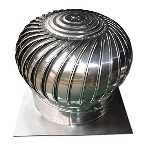 FZYE Ventilador de turbina, Ventilador de Techo 201 Tapa de Escape de Acero Inoxidable Salida de Humos a Prueba de Agua (Tamaño: 100 mm)
