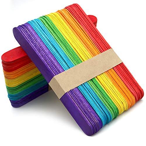 Palitos de Madera para Manualidades de Bricolaje (Multicolor (100pcs))
