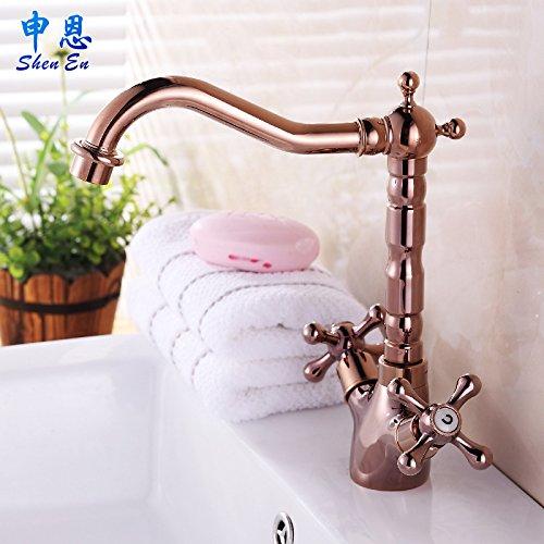 rubinetto miscelatore in rame anticato contemporanea cucina e bagno rubinetto a cascata, (Standard G 1/2per tubo universale porte)