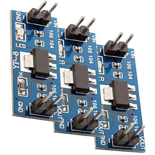 AZDelivery 3 x AMS1117 3,3V Stromversorgungsmodul für Raspberry Pi und kompatibel mit Arduino inklusive E-Book!