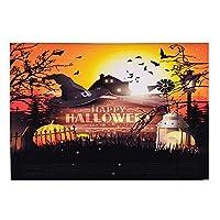 Baugger 1.5 * 2.1メートル/ 5 * 7フィートの折りたたみ式ビニール写真の背景かぼちゃ写真スタジオの小道具