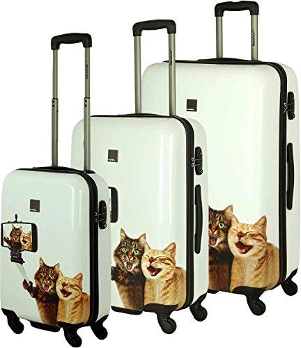 set di valigie 3pc., Saxoline ABS-PC Trolley Set selfie 55 cm / 67 cm / 77 centimetri