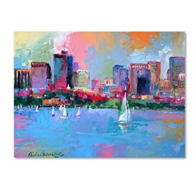 Boston 3 by Richard Wallich, 14x19-Inch Canvas Wall Art