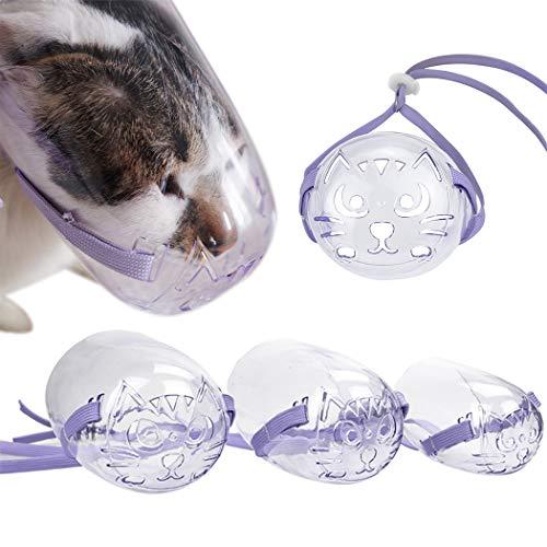 Legendog Katzenmaulkorb Set Anti-Biss Atmungsaktive Plastik Haustier Maulkorb Haustierzubehör für Katzen