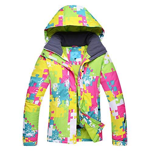 Traje De Esquí Universal De Chapa Doble De Chapa para Mujer, Abrigo De Invierno Al Aire Libre, Cálido, Transpirable Y Deportivo,L