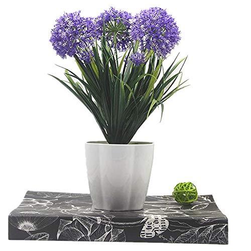 xichen Künstliche Topfpflanzen, Hortensie, 25,4cm deep purple